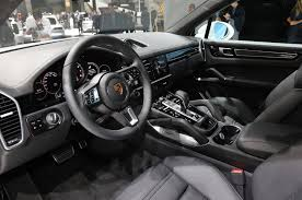 porsche suv interior 2017 2019 porsche cayenne turbo spices up frankfurt with 550 hp motor