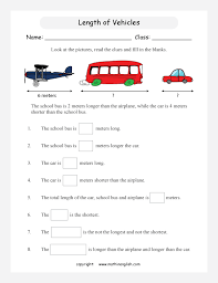compare the length of 3 vehicles analyze your finding and solve