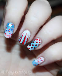 4th of july usa nail art with stars glitter u0026 ombre with sinful