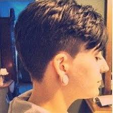 cropped hairstyles with wisps in the nape of the neck for women shaved sides undercuts sidecuts buzzed napes pinterest