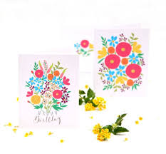free printable flower greeting cards a of rainbow