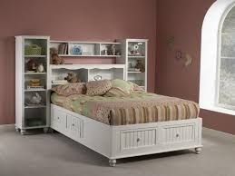 Headboards With Built In Lights Full Size Platform Bed With Storage And Bookcase Headboard