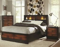 bedroom queen storage bed with bookcase headboard platform