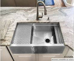 Kitchen Magnificent Bathroom Sink Stainless Steel Sink Dish by Copper And Stainless Steel Farmhouse Sinks Havens Metal