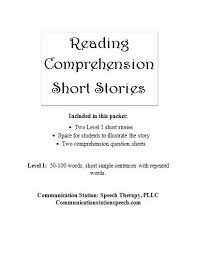 stories for comprehension freebie friday reading comprehension stories level 1