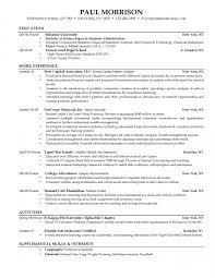 Work Experience Examples For Resume by Sample Resume For College Student Recentresumes Com