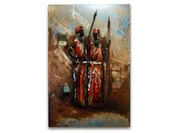 masai warrior metal painting masai metal wall