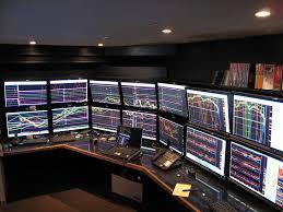 40 monitor computer setup of a stock trader steve price slc ssd