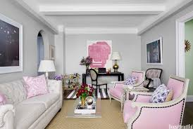 Pink Living Room Chair Pink And Gray Living Room Contemporary Living Room House