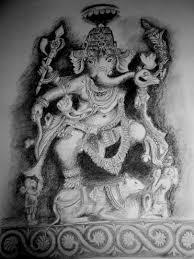 ganesh charcoal sketch artistry