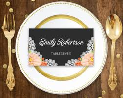printable place card fall wedding dinner wedding instant