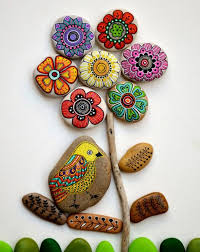 Garden Decor With Stones Painting Stones 40 Ideas For Original Tinkering With Stones