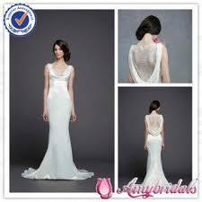 sa6220 beautiful cowl neck back see through lace wedding dress