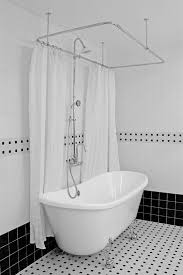 Ceiling Curtain Rods Ideas Great Ceiling Mount Shower Curtain Rod Clawfoot Tub Inspiring
