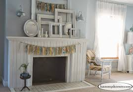 shabby chic brick fireplace 2567