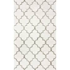 park avenue trellis nickel 5 ft x 8 ft area rug by home depot