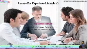 Female Resume Sample Resume Resume For Experienced Sample Resume Resume Templates