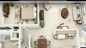 Bedroom Apartment House Plans YouTube - Design for one bedroom apartment