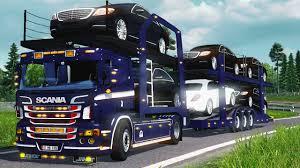 mod car game euro truck simulator 2 scania p400 car transporter mod euro truck simulator 2 youtube