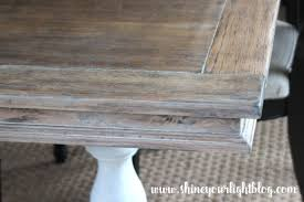 Limed Oak Kitchen Table How To Lime A Dining Table Shine Your Light