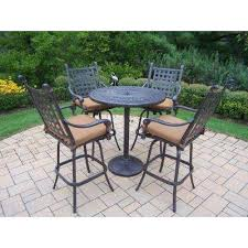 Patio High Table And Chairs Bar Height Dining Sets Outdoor Bar Furniture The Home Depot