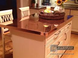 metal top kitchen island kitchen island with copper counter top the mix with the