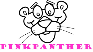 how to draw and color pink panther coloring pages for kids youtube