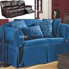 Dual Reclining Sofa Slipcover Slipcovers For Reclining Sofas Reclining Sofa Slipcover Denim Blue