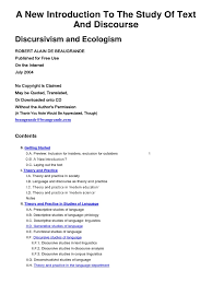 a new introduction to the study of text and discourse