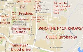 columbia missouri map a judgmental map of columbia mo