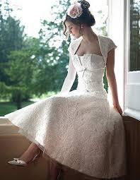 lace tea length wedding dresses