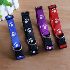 adjustable footprints collar puppy pet collars with
