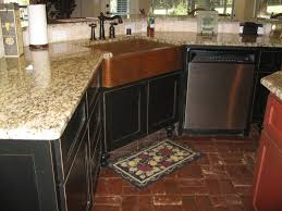 Distressed Black Kitchen Island Incomparable Stand Alone Farm House Sink From Hammered Copper