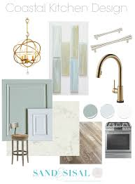 our coastal kitchen design board sand and sisal