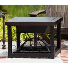 Fire Sense Propane Patio Heater by Fire Sense Hammer Tone Bronze Finish Cocktail Table Fire Pit