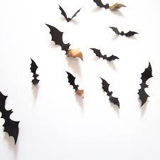 black 3d diy pvc bat wall sticker decal home halloween decoration