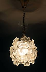 Glass Ceiling Lights Palwa Glass Flower Pendant Light Brass Ceiling Lamp Floral