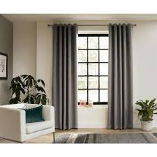 Grey Wooden Curtain Pole Wood Curtain Rods U0026 Hardware Window Treatments The Home Depot