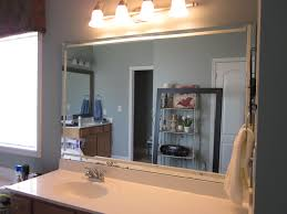 frame existing bathroom mirror