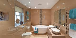 how to make small bathroom look bigger with purple paints colour