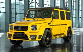 mercedes benz jeep custom mansory u0027s magic yellow mercedes joins four other modified geneva