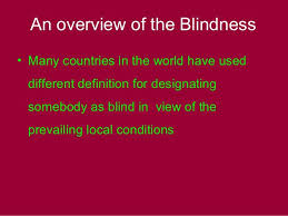 Blindness In The World Prevention Of Blindness