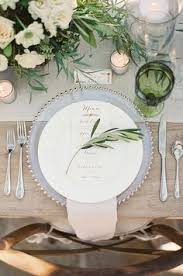 wedding plate settings each guest s place setting is punctuated with a dinner menu