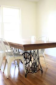 sewing machine table ideas our diy dining table from an old sewing machine all sorts of pretty