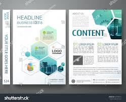 brochure design template vector flyers annual stock vector