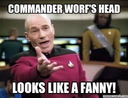 Worf Memes - worf s head