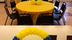 minions centerpieces rental arc balloons balloons center pieces and lines of