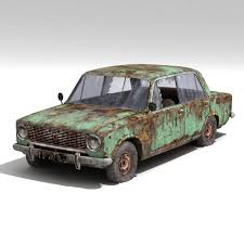wrecked car wrecked car vaz 2101 3d max 3d model 3d modeling pinterest 3d