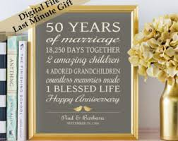 50 anniversary gifts 50th anniversary gifts etsy