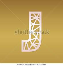 laser cut monogram initial letter u stock vector 514213384